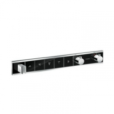 Hansgrohe - RainSelect Finish Set For Concealed Installation For 5 Outlets Black/Chrome