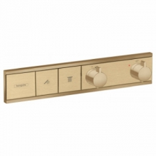 Hansgrohe - RainSelect Thermostat for Concealed Installation for 2 Functions Brushed Bronze
