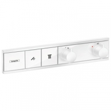 Hansgrohe - Hansgrohe - RainSelect / 15380700 / Matt White - 2-Handle Concealed Thermostat 2-On/Off Control Function Shower Mixer - Finishing Set