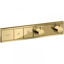Hansgrohe - RainSelect Thermostat for Concealed Installation for 2 Functions Polished Gold Optic