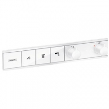 Hansgrohe - Hansgrohe - RainSelect / 15381700 / Matt White - 2-Handle Concealed Thermostat 3-On/Off Control Function Shower Mixer - Finishing Set