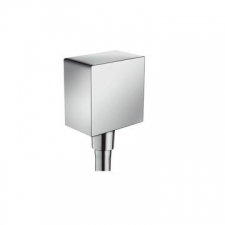 Hansgrohe - Fixfit Square Wall Outlet DN15 N.Ret. Valve Chr