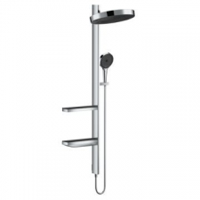 Hansgrohe - Hansgrohe - Rainfinity 360 1jet / 26842000 / Chrome - ShowerPipe Concealed Combination - Finishing Set / Spray Mode(s) : PowderRain