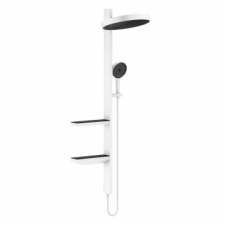 Hansgrohe - Hansgrohe - Rainfinity 360 1jet / 26842700 / Matt White - ShowerPipe Concealed Combination - Finishing Set / Spray Mode(s) : PowderRain
