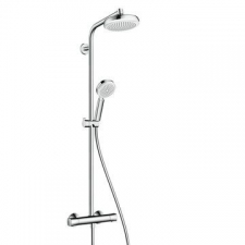Hansgrohe - Crometta Showerpipe 160 1jet with Thermostat White/Chrome