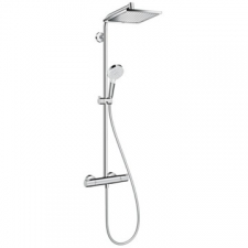 Hansgrohe - Hansgrohe - Crometta S 240 1jet / 27271000 / Chrome - ShowerPipe Combination with Exposed Thermostat Shower Mixer - Spray Mode(s) : Rain
