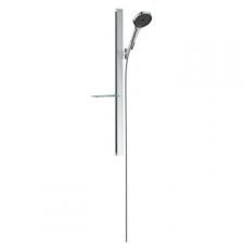 Hansgrohe - Hansgrohe - Rainfinity 130 3jet / 27671000 / Chrome - 900mm Sliding Wallbar Set with Hand Shower Set - Spray Mode(s) : PowderRain, Intense PowderRain, MonoRain