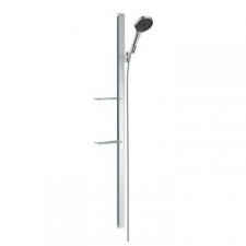 Hansgrohe - Hansgrohe - Rainfinity 130 3jet / 27673000 / Chrome - 1500mm Sliding Wallbar Set with Hand Shower Set - EcoSmart / Spray Mode(s) : PowderRain, Intense PowderRain, MonoRain