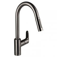 Hansgrohe - Decor Sink Mixer Pull-Out 240mm Brushed Black Chrome
