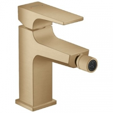 Hansgrohe - Metropol Bidet Mixer Single Lever 1-Hole with Push-Open Clicker Waste Set Brushed Bronze