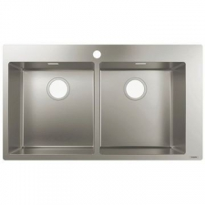 Hansgrohe - S711-F765 Built-In Sink 370/370 865x500mm Stainless Steel