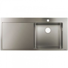Hansgrohe - S715-F450 Built-In Sink 450 with Drainboard 1045x510mm stainless Steel