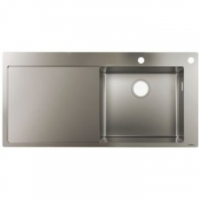 Hansgrohe - S717-F450 Built-In Sink 450 with Drainboard 1045x510mm Stainless Steel