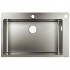 Hansgrohe - S712-F660 Built-In Sink 660 760x500mm Stainless Steel