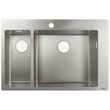 Hansgrohe - S711-F655 Built-In Sink 180/450 755x500mm Stainless Steel