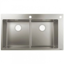 Hansgrohe - S712-F765 Built-In Sink 370/370 865x500mm Stainless Steel