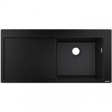Hansgrohe - S514-F450 Built-In Sink 450 with Drainboard 1050x510mm Graphite Black