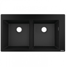 Hansgrohe - S510-F770 Built-In Double Sink 880x415mm Graphite Black