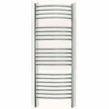 Jeeves - Classic D Curved Heated Towel Rail 620x1340mm Polished Stainless Steel