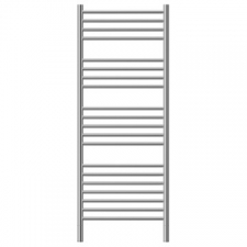Jeeves - Classic D Straight Heated Towel Rail 620x1340mm Brushed Stainless Steel