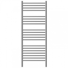 Jeeves - Classic D Straight Heated Towel Rail 620x1340mm Polished Stainless Steel