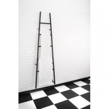 Jeeves - Tangent L Ladder Heated Towel Rail 520x1890mm Matt Black Coated