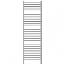 Jeeves - Classic N Straight Heated Towel Rail 400x1740mm Brushed Stainless Steel
