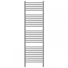 Jeeves - Classic N Straight Heated Towel Rail 400x1740mm Polished Stainless Steel