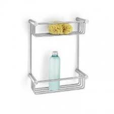 Zack - Civio Shower Basket 2 Tier 320 x 243 x 105mm Brushed Stainless Steel
