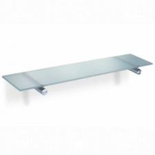 Zack - Civio Bathroom Shelf 500x120x27mm Brushed Stainless Steel