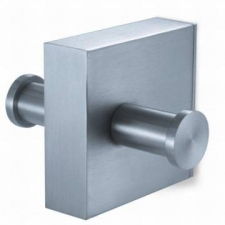 Zack - Fresco Double Towel Hook 77 x 62 x 60mm Brushed Stainless Steel