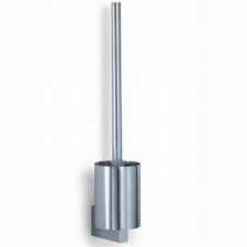 Zack - Fresco Toilet Brush Wall Mounted 425 x 117 x Diameter 89mm Brushed Stainless Steel