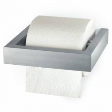 Zack - Linea Toilet Roll Holder Wall-Mounted Single Brushed Stainless Steel