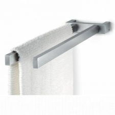 Zack - Linea Towel Rack 45cm Double Brushed Stainless Steel