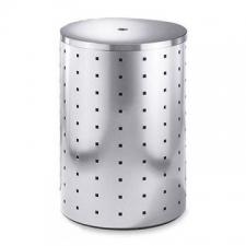 Zack - Quadro Laundry Bin 69L 550 x Diameter 400mm Brushed Stainless Steel