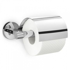 Zack - Scala Toilet Roll Holder with Lid Polished Stainless Steel
