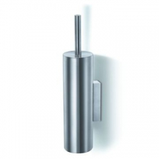 Zack - Tubo Toilet Brush Wall Mounted 400 x Diameter 125mm Brushed Stainless Steel