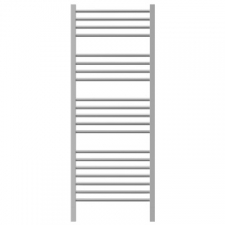 Jeeves - Quadro D Straight Heated Towel Rail 1340 x 400mm Brushed Stainless Steel