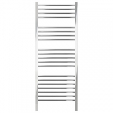 Jeeves - Quadro D Straight Heated Towel Rail 1340 x 400mm Polished Stainless Steel