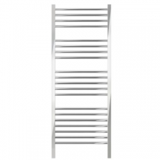 Jeeves - Quadro D 520 Electric Straight Heated Towel Rail 1340X520mm Brushed Stainless Steel