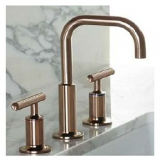Kohler - Purist Low Gooseneck Spout Basin Mixer with Lever Handles Rose Gold