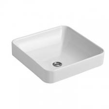 Kohler - ForeFront Vessel Basin Square Without Mixer Hole 413 x 413mm White
