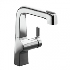 Kohler   Evoke Sink Mixer w/ Pullout Spray 265x83x203mm Polished Chrome