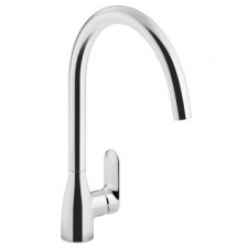 Kohler   Kumin Sink Mixer Ceramic Disc Cartridge and Braided SS Hoses Chrome