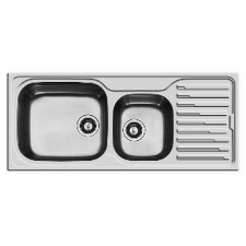 Kwikot - Classique Inset Sink 1 & 1/2 Bowl LH 1160x500mm Stainless Steel