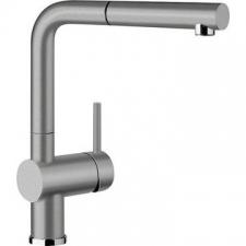 Blanco - Linus-S (SIL) Sink Mixer Pillar Mounted Alu-Metallic/Chrome