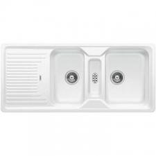 Blanco - Classic 8 S Sink Drop-In DEB & Tidy 1160x510x190mm White