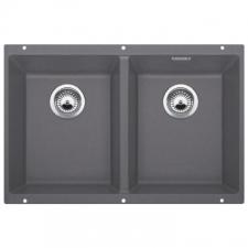 Blanco - Subline 350/350-U Double Underslung Sink 755x460x200mm Rock Grey