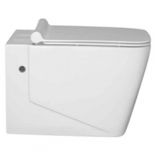 Lecico - Duzi Square Wall-Hung Pan & Soft Close Seat White