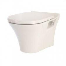 Lecico - Kharine Wall-Hung Pan w/ Soft Close Seat White